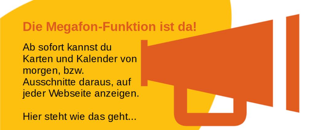 """Der Kalender von morgen – Mit """"Megafon-Funktion"""""""